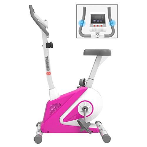 Elípticas Hogar de la Bicicleta de Interior Ejercicio Bicicleta magnética de Control de la máquina silencioso Paso a Paso Equipo de Fitness 8 Ajustable (Color : Pink, Size : 48 * 85 * 132cm)