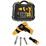 JCB Drill Tool Carry Case & Tools Play Set For Kids Boys & Girls | Childrens Builders Construction Roleplay Kit