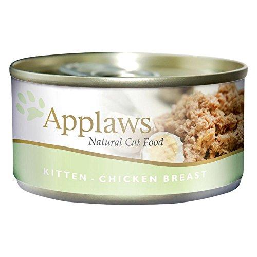 Applaws - Comida humeda para Gatos Kitten Lata Pollo 70 gr