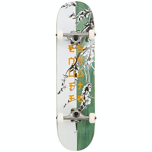 Enuff Skateboards Cherry Blossom Complete Skateboard Adulte Unisexe Blanc/Teal (Multicolore) 8' x 32'