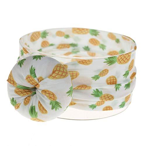 FBGood Hairband-Headband Boho Estilo Floral Headwrap Banda de pelo para bebé niña, diadema elástica diadema para bebé, diadema de nailon, accesorios para el cabello (piñas)