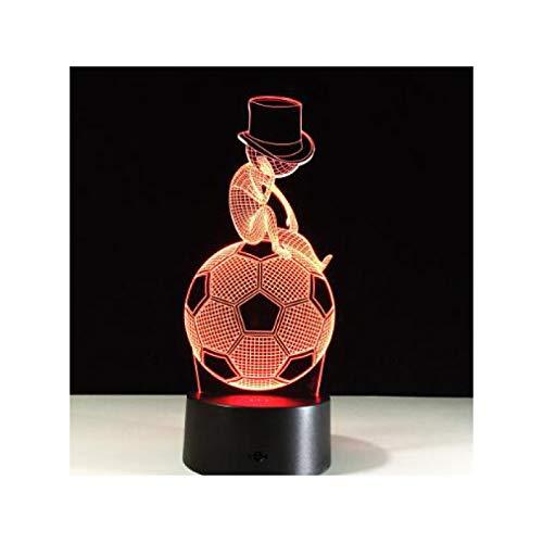 TIDRT Luz De Ilusión 3D Creativa Luz De Noche Led Fútbol Imperio Diseño De Corona Novedad Luz De Atmósfera Acrílica Un Regalo Encantador para Niños