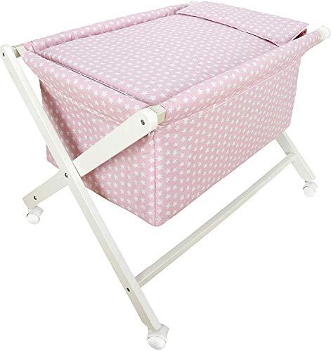 Vestidura minicuna Tijera No Incluye Estructura-Elige tu modelo- danielstore (Corsa rosa)