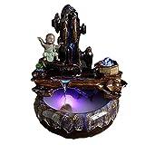 WBDZ Fuente de Agua de Mesa, Fuente de Mesa de Buda Fuente Interior de cerámica Característica de Cascada Interior, para Oficina en casa o Dormitorio (Color: B)