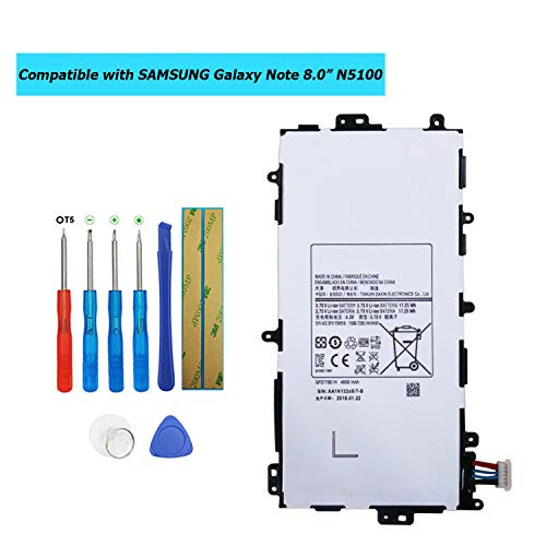 Upplus SP3770E1H - Batería de Repuesto Compatible con Samsung Galaxy Note 8.0 GT-N5100 GT-N5110 GT-N5120 SGH-I467 N5100 con Kit de Herramientas