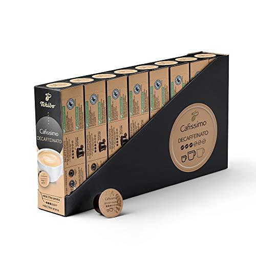 Tchibo Cafissimo Vorratsbox Caffè Crema entkoffeiniert Kaffeekapseln, 80 Stück (10x8 Kapseln), nachhaltig & fair gehandelt