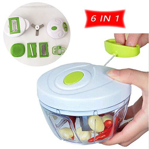 Juego manual de picadora de alimentos Tingz,Licuadora picadora de verduras,Puede cortar los alimentos en picados,sedosos,rebanados y revueltos