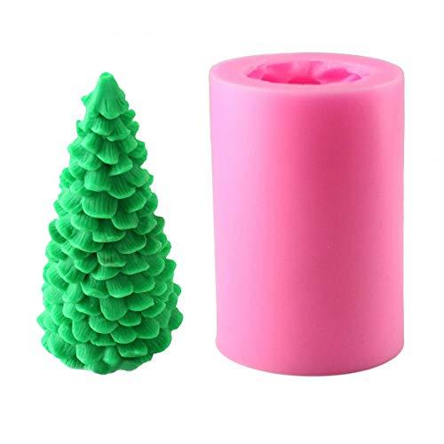 jjnet 1 stück Silikon Weihnachtsbaum Kerzenformen/Seifenformen/Backformen, Ideal Formen für DIY Weihnachten Kerzenherstellung, Seifenherstellung und Backen Weihnachtsbaum Schimmel