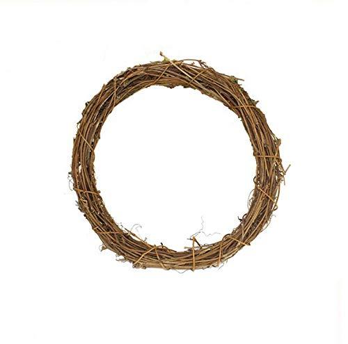 Morza 1PCS Naturale essiccato Rattan Corona di Natale della casa della Ghirlanda per Parete Fai da Te Corona Bella