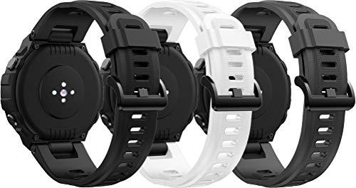 Simpleas Correa de Reloj Recambios Correa Relojes Caucho Compatible con Amazfit T-Rex - Silicona Correa Reloj con Hebilla (3PCS A)