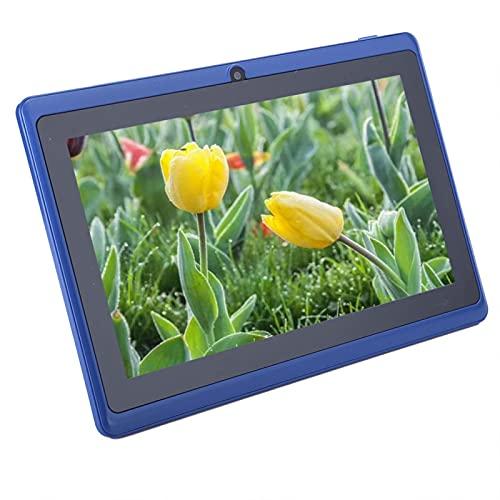 Tablet PC para niños de 7 Pulgadas, 1 + 8G, computadora para niños de Alta definición, Soporte para conexión WiFi, para Sistema Android 4.4, con Cubierta Protectora de Silicona, Azul(EU)