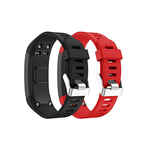 SUPORE Garmin Vivosmart HR Tracker di Ricambio per Orologio Cinturino, Accessori Regolabile Silicone Morbido per Orologio Progettato per Garmin Vivosmart HR Smart Sport(Solo Il Numero di Serie 4PK)