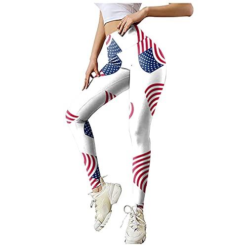 Ekrfxh Las mujeres actividades al aire libre cintura alta estiramiento Strethcy Fitness Leggings Yoga Pantalones, blanco, XXL