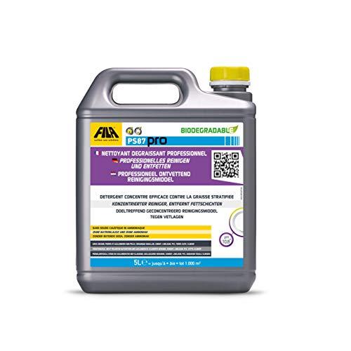 FILA PS87 Pro Reinigungs- und Entfettungsmittel, Fleckenentferner Cotto, Klinker, Naturstein, Keramikfliesen 5 l. für bis zu 250 qm