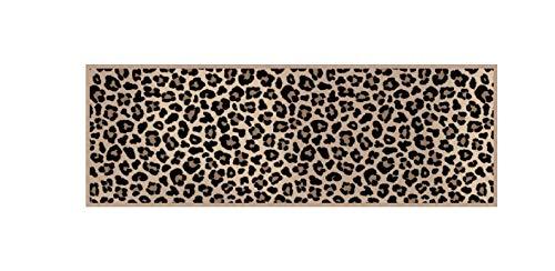 Bavaria Home Style Collection – Rutschfester und waschbarer (30°C) Design Küchenläufer | 50 x 150 cm | Motiv: Leopard