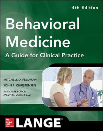 Behavioral Medicine A Guide for Clinical Practice 4/E