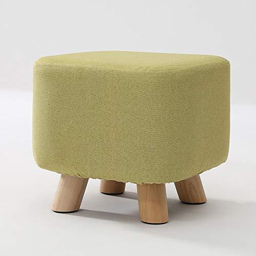 Juudoiie Tabouret en bois massif famille bas tabouret créatif salon chaussure tabouret à la mode adulte tissu canapé so-socle petit tabouret de luxe de luxe rangement chaise de rangement de luxe so-so