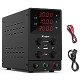 Kungber Alimentatore da Banco 0-30 V/0-10 A, Laboratorio Regolato a Commutazione Regolabile, Display LED a 4 Cifre
