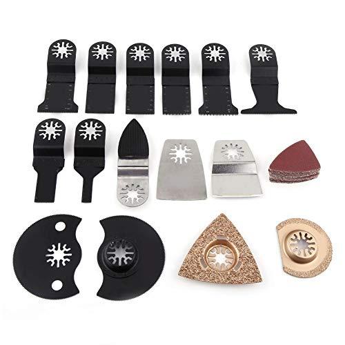 40 piezas de 1 juego de cuchillas de sierra oscilante, kit de cuchillas de sierra de corte, herramienta multiherramienta, herramientas eléctricas, accesorios