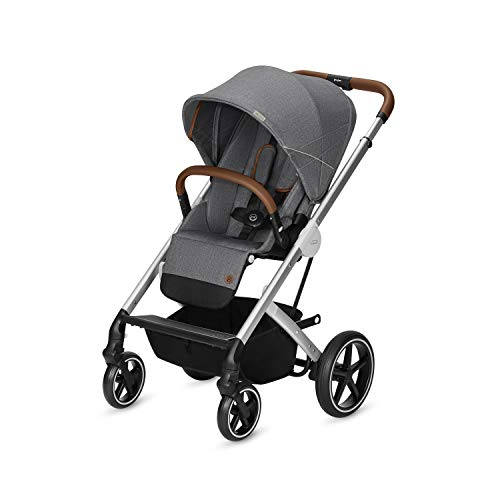Cybex Gold Balios S - Silla de Paseo 3 en 1, Gris (Manhattan Grey - Denim Collection)