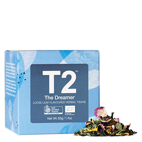 T2 - The Dreamer, Loose Leaf Flavoured Herbal Tisane, Wellness Tea, Feature Cube, 50g, 1.7oz