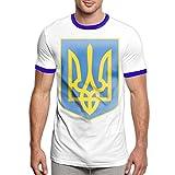 Charity Packer Badge de l'Ukraine Tee-Shirts T-Shirt pour Hommes à la Mode T-Shirt Confortable à Manches Courtes