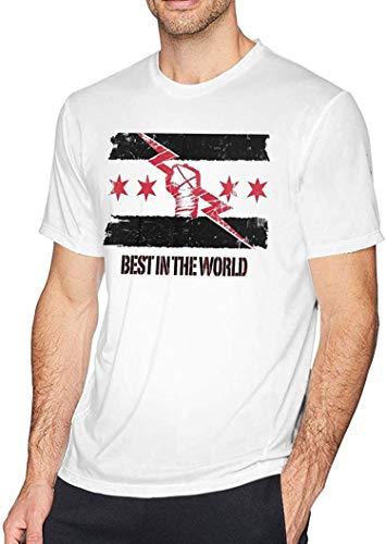cm Punk Best in The World Men's Short Sleeve t-Shirt,Small White
