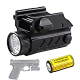 Garberiel G03 LED Handgun Flashlight 320 Lumens 1 Modes Waterproof LED Tactical Gun Flashlight Torch Light for Glock and MIL-STD-1913 Rail
