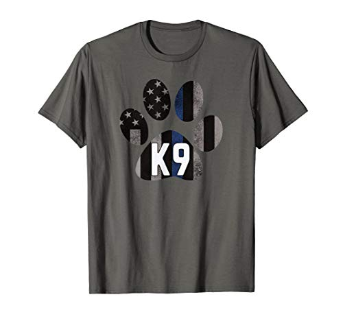 K9 Police Blue Paws Matter for LEO Cops FBI Sheriff K-9 Unit T-Shirt