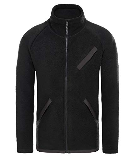 The North Face Mens Cragmont Fleece Full Zip Black-Large