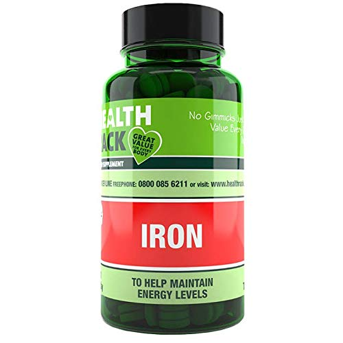 Iron 14mg 90 Tablets | Helps Reduce Tiredness & Fatigue, Supports Normal Oxygen Transportation, Formation of Red Blood Cells & Cognitive Function