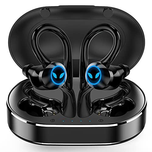 Cuffie Bluetooth, Auricolari Bluetooth 5.1 Sport Cuffie Senza Fili, IPX7 Impermeabile Running Cuffie Wireless In Ear Riduzione Rumore con Mic, Ricarica Rapida USB-C, 42 Ore di Riproduzione per Correre