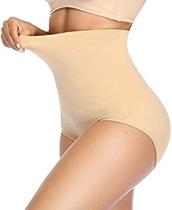 SLIMBELLE Braguita Moldeadora Nalga Cintura Alta para Mujer Braga Faja Reductora Postparto Talla Grande Ropa Interior Adelgazante Body Shaper Shapewear Lenceria Invisible Negro-M