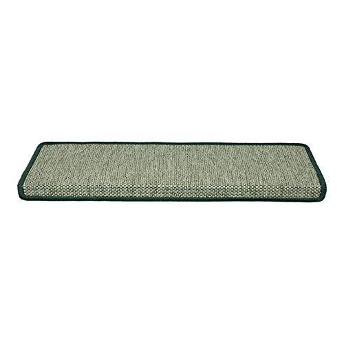 Stufenmatte Sabang   grün, Sisaloptik   Qualitätsprodukt aus Deutschland   GUT Siegel   kombinierbar mit Läufer   Form und Anzahl wählbar (rechteckig, 1 Stück)
