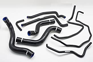 Autobahn88 Radiator Coolant & Heater Silicone Hose Kit fits for 2003-2012 Mazda RX8 SE3P 13B MSP (Black -without Clamp Set)