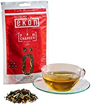 Energy Tea PM CHARGER by ekön | Eases Effects Of Fatigue & Supports Digestive Health | Inspired for Men, Loved by Women with touches of Lemon-Citrus, Uplifting Green Tea notes | 30 day Supply