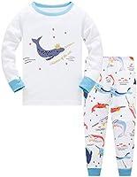 Girls Christmas Pyjamas Set Toddler Clothes Sleepwear Animal Printed Nightwear Winter Long Sleeve PJs 2 Piece Outfit...