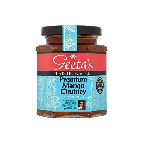 Geeta Premium Mango Chutney (320g) - Packung mit 2