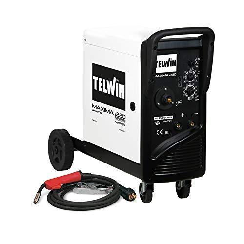 Telwin 816088 Maxima 230 Synergic Drahtschweißgerät mit Invertertechnik, 230V, 50-60Hz, 1ph