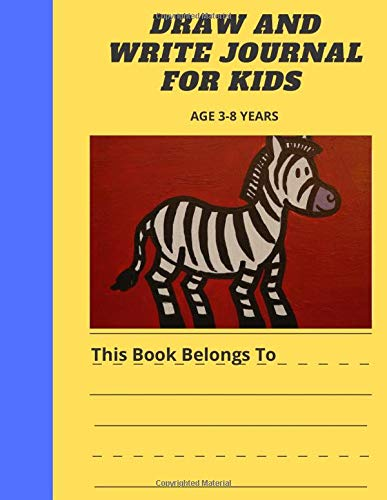 DRAW AND WRITE JOURNAL FOR KIDS AGE 3-8 YEARS: Primary composition half page lined paper with drawing space (8.5