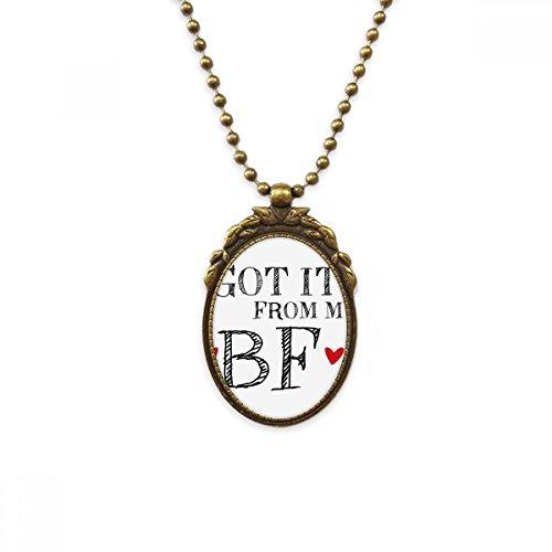 DIYthinker GF kreeg het van mijn BF Valentijnsdag antieke messing ketting vintage hanger sieraden luxe gift