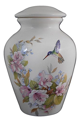 Flower With Hummingbird Urn