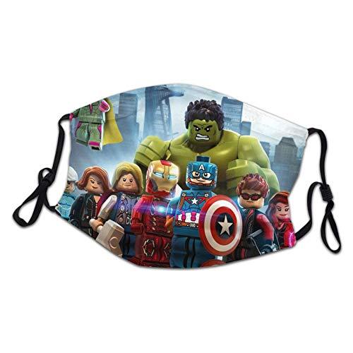 L-E-G-O He-Ro fa-ce cubierta Gesichtsschutzma-sken con bucles para los oídos bufanda reutilizable lavable desechable Reino Unido hecho a prueba de polvo para niños, niñas draußen