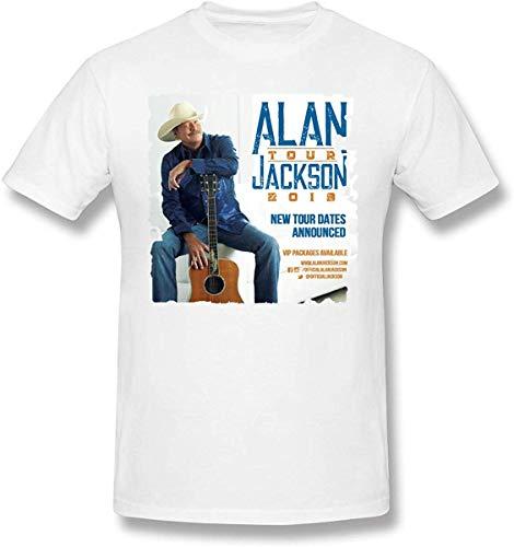 Whgdeftysd heren Print Alan Jackson Tour 2019 T-shirt met korte mouwen