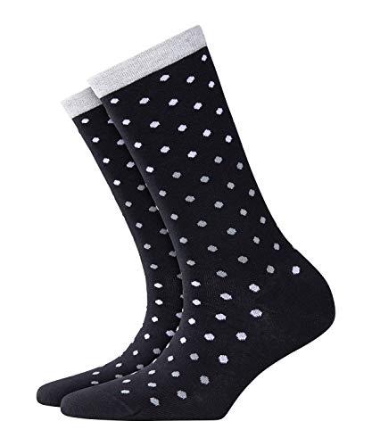 BURLINGTON Damen Socken Dotty - Baumwollmischung, 1 Paar, Schwarz (Black 3000), Größe: 36-41