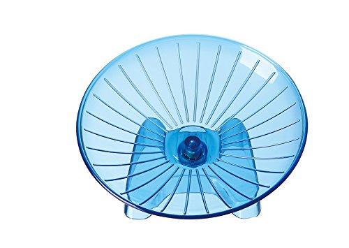SatisPet - Rueda de Ejercicio para Hámster, Color Azul, plástico ABS Resistente, para Correr y Girar para Chinchillas, Ardillas y Ratones (Grande)