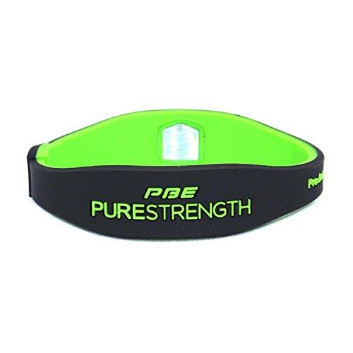 Power Balance Energy Pulsera magnética de terapia con iones, hecha de silicona, de estilo deportivo, mujer hombre Infantil, negro y verde lima, Small - 17.5cm