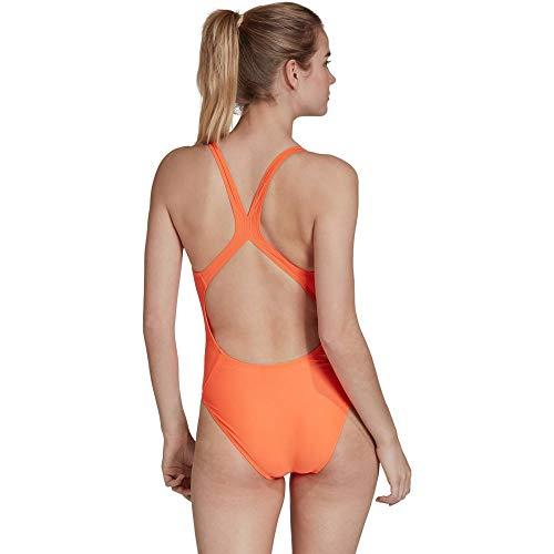 adidas Damen Athly 3-Streifen Badeanzug, Hi-Res Coral, 38