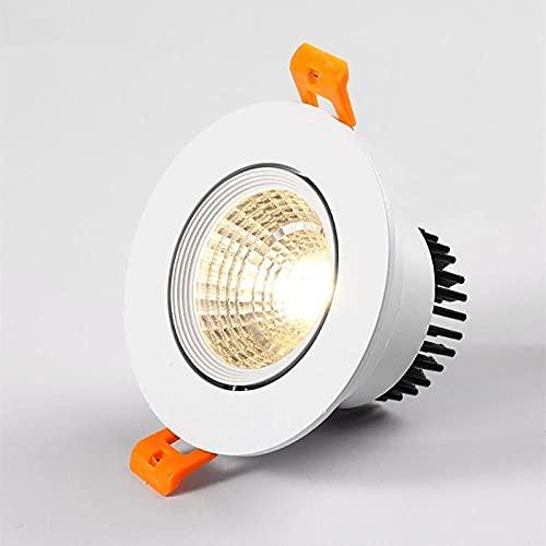 Downlight LED 5W 7W 9W 12W Downlight de techo AC110V-220V Epistar Lámpara de techo empotrada LED Foco para iluminación del hogar-Cold_white_7W