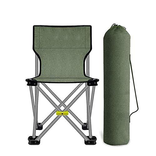 KOIUJ Silla Que acampa Plegable, cómodo, Estructura de Alta Resistencia, Puede acomodar hasta 1 Persona, Capacidad de Carga 150 Kg, Verde